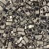 Miyuki Tila Half Cut 5X2.3mm 2Hole Nickel Color Opaque